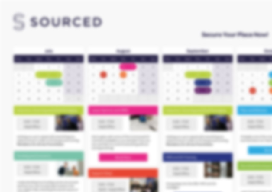Blurred Sourced Franchise 2020 Training Schedule
