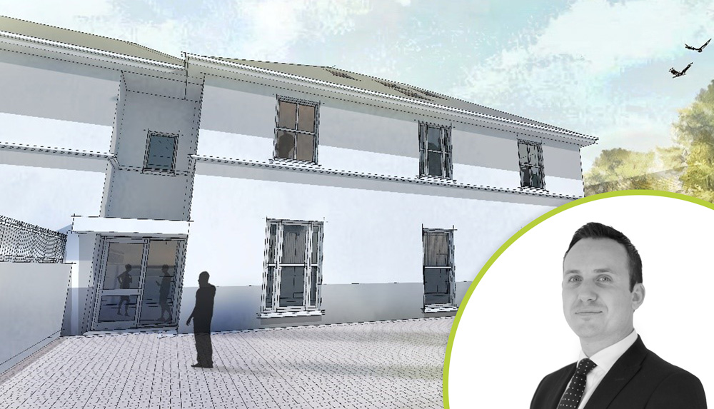 Franchisee, Chris Richardson and a CGI of his project
