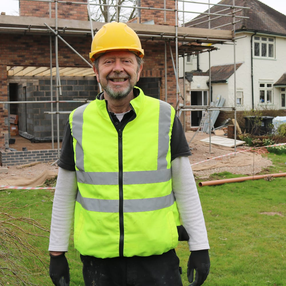 Michael Marlowe on site of his new build development and refurbishment project