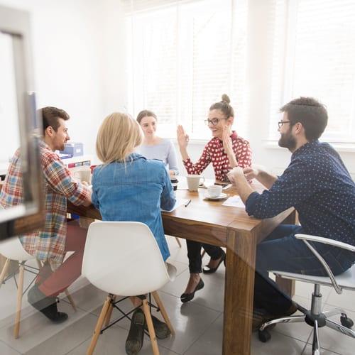 Funding team having a meeting